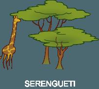 jirafa con arbol
